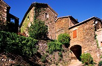 France, Ardeche, Monts d´Ardeche Regional Natural Park, village of Brahic