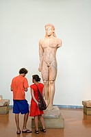 Greece, Athens, National Archaeological Museum, Kouros statue of 600 BC