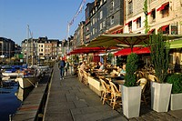 France, Calvados, Honfleur, the old basin and Sainte Catherine quay