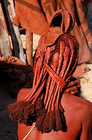 Himba, woman, Himba, village, Purros, Kaokoland, Kunene Region, Namibia, Africa, Travel, Nature