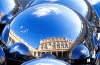France, Paris, Palais Royal, sculpture by Paul Bury