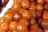 France, Alpes Maritimes, Nice, Old Town, Cours Saleya, candied mandarin on market