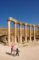 Jordan, Jerash Governorate, antique site of Jerash, Forum