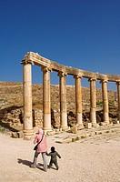 Jordan, Jerash Governorate, antique site of Jerash, Forum