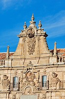 Spain, Castile_Leon, Salamanca, Plaza Mayor in the old town, listed as World Heritage by UNESCO