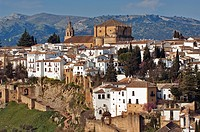 Spain, Andalusia, white village of Ronda, Santa Maria la Mayor Church