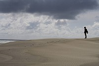 standing on a dune