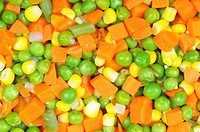Boiled diced vegetables