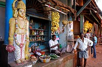 India, Karnataka, Gokarna, shop in the village