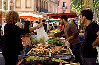 France, Haute Garonne, Toulouse, Boulevard de Strasbourg, market