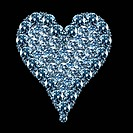 close up image of a heart shaped diamond
