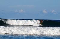 Costa Rica, Puntarenas province, Montezuma seaside resort on the Nicoya peninsula, surfer