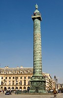 France, Paris, Place Vendome and column