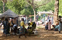 Benin, Atacora Department, Tanguieta District, Pendjari Reserve, Tanougou market, Gourmanche ethnic group