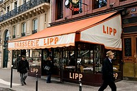 France, Paris, Boulevard Saint Germain, Lipp Brasserie