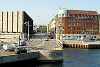 View on the Niels Juels Gade from the Christian bridge  Copenhagen, Denmark