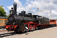 Russian retro steam locomotive Ov-841  Built in 1903