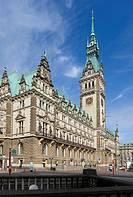 Rathaus und Regierungssitz in Hamburg, Deutschland