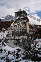 Memorial to Scott Fischer Climbing Guide died on Mt Everest 1996 Khumbu Valley Nepal
