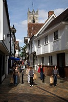 Historic buildings, central Ipswich, Suffolk, England