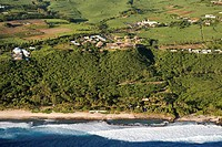 France, Reunion Island, southern coast, Grande Anse, Palm Hotel aerial view