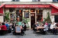 France, Paris, Place du Marche Sainte Catherine
