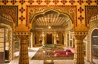 Museum of Sawai Man Singh II, Chandra Mahal, City Palace, Jaipur, Rajasthan, India