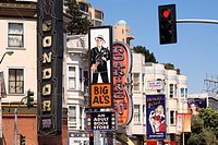 United States, California, San Francisco, North Beach District, Broadway and places for adults