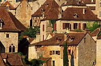 France, Lot, Figeacois, Saint Cirq Lapopie, labelled Les Plus Beaux Villages de France The Most Beautiful Villages of France