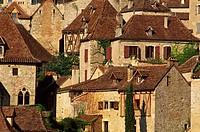 France, Lot, Figeacois, Saint Cirq Lapopie, labelled Les Plus Beaux Villages de France The Most Beautiful Villages of France