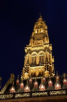 Bell tower, belfry, town hall, Place des Heros, Arras, Nord Pas de Calais, France