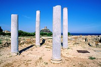 Italy, Sardinia, Cagliari Province, South Coast, Nora, archeological site of the old phenician city
