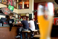 Germany, Berlin, Mitte district, in a bar