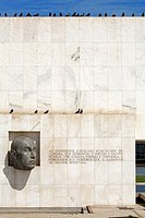 Brazil, Brasilia, listed as World Heritage by UNESCO, memorial for Juscelino Kubitschek, by architect Oscar Niemeyer