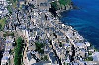 France, Manche, Cotentin, Granville aerial view