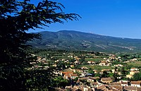 France, Vaucluse, Bedoin village and Mont Ventoux