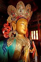 India, Jammu and Kashmir, Ladakh, Indus valley, Thiksey Gompa monastary, Maitreya Buddha