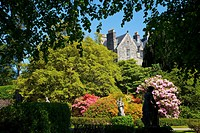 Torosay Castle gardens, Isle of Mull, Inner Hebrides, Scotland, UK