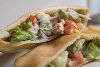 Close_up of stuffed pita sandwiches