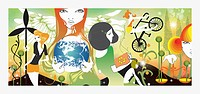 Women and environmental conservation collage