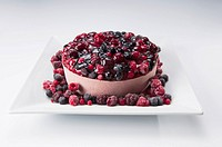 Close_up of an assorted berry mousse