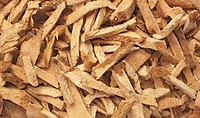 dried roots of the medicinal plant Greater Yam, Guyana arrowroot, winged yam, Dioscorea alata, Bi xie