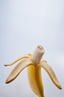 Close_up of an eaten banana