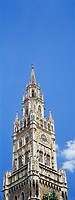 Tower of the new city hall, Marienplatz, Munich, Bavaria, Germany