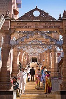 Worshippers visiting Sachiya Mata Temple, Osian, near Jodhpur, Rajasthan, India