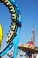 Detail of rollercoaster at Oktoberfest, Munich, Germany