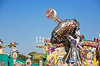 Detail of fairground rides at Oktoberfest beer festival, Munich, Germany