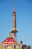 Fairground rides at Oktoberfest beer festival, Munich, Germany