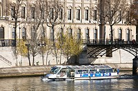 Tourist boat on river Seine, Paris, France (thumbnail)