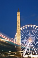 Obelisk and Ferris Wheel Place de la Concorde , Paris, France